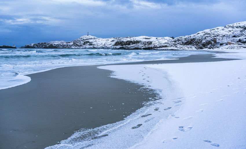 Leading Lines Winter Blue Sky Landscape Rocks Sea Sea And Sky Seascape Snow Wather
