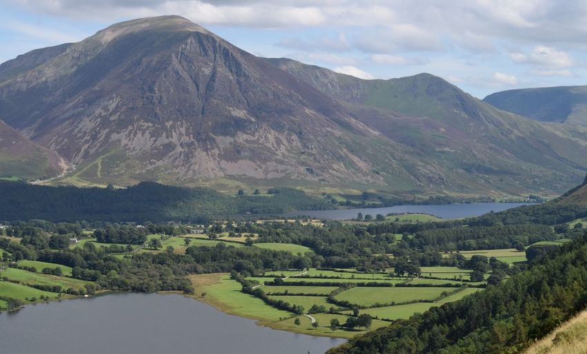 Lake District Loweswater And Crummock Water Lake Mountain Scenics Landscape Cloud - Sky
