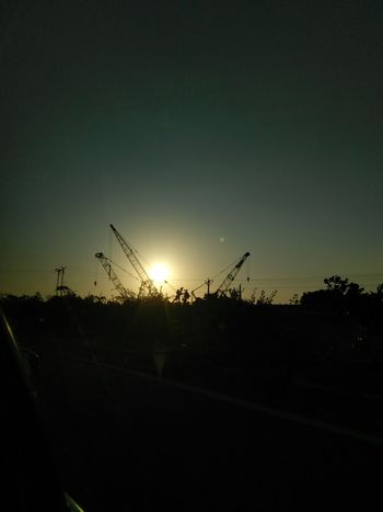 Cranes Sunset Silhouette No People Sky Nature Outdoors Night