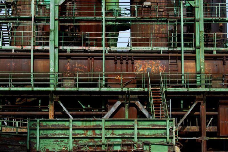 Rusty metal building