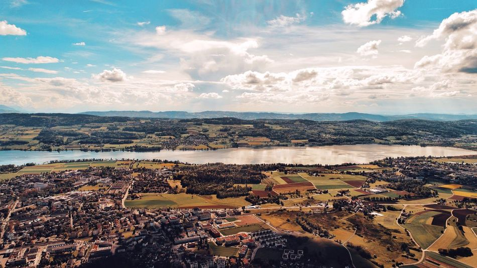 Cloud - Sky Sky Water Scenics Nature Beauty In Nature Uster Greifensee Dji InLOVEwithSwitzerland Fromwhereidrone No People Outdoors Tranquility Landscape Day Sunlight