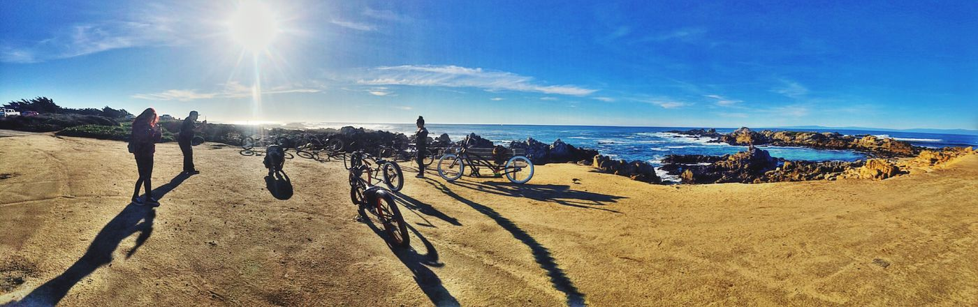 Irie stop while Riding the Beautiful Monterey Bay Coastline with Family and Friends