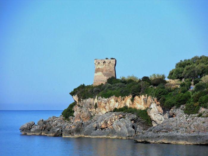 Costa Marina Di Camerota, Salerno, Italy Mediterranean  Avvistamenti Costiera Day Medioeval Nature No People Outdoors Saraceno Sky Tirrenic Sea Torre Water