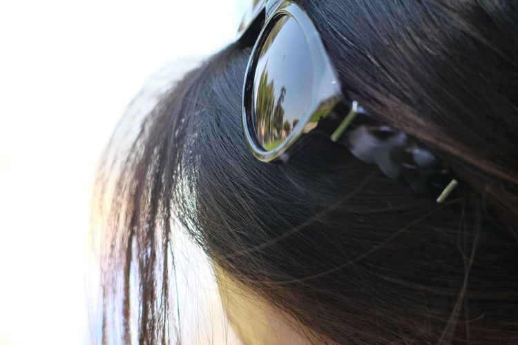 Sunglasses in the hair California Close-up Day Hair Headshot One Person Outdoors People Real People Sunglasses USA Women Sommergefühle