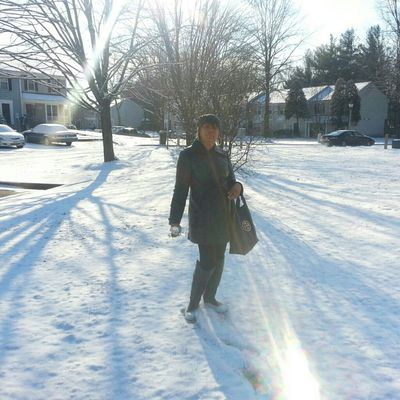First snow of the year with my mom.