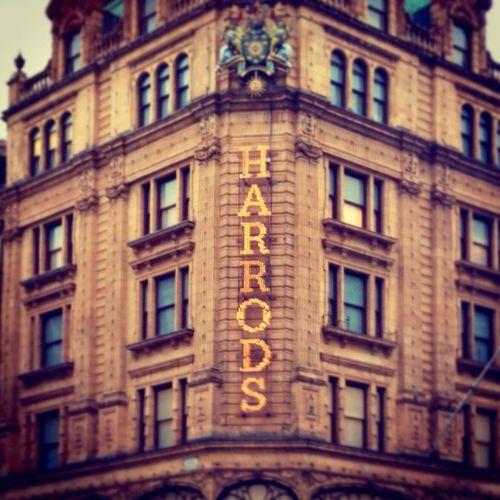 Harrods store Enjoying Life