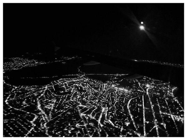 Airplane view Night Full Frame Sky Airplane City City Lights Citylights City View  City Landscape Cityview Airplaneview Airplane Wing AirPlane ✈ NewHere ✌🏽️😄 Nightphotography Night Lights Night View Night Photography Nightshot Nightlights
