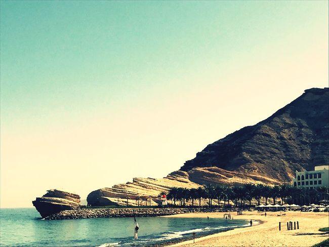 Oman Beach Rock Holiday View Sea
