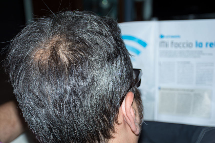 Adult Adults Only Bald Baldeneysee Baldhead Baldness Close-up Day Focus On Foreground Headshot Indoors  Mature Adult Men One Man Only One Person People Real People Rear View