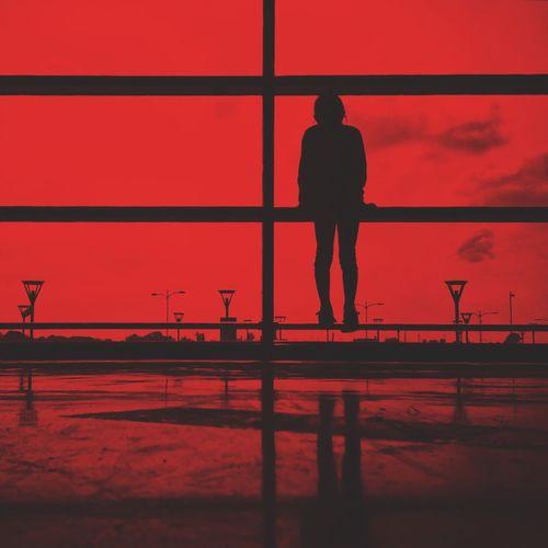 Red Silhouette Men Red Outline Full Frame Sky Solitude Landscape EyeEm Best Edits EyeEm Best Shots Portrait OpenEdit EyeEm VSCO Vscocam Streetphotography