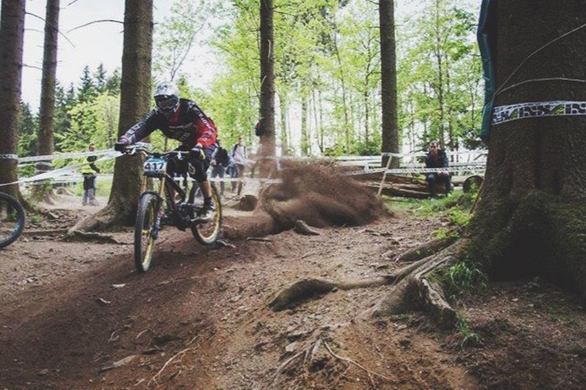 The Color Of Sport Sport Sports Photography Extreme Sports Sports Race Mtblife OurLifeStyle Forest Motion Bicycle Men WoodLand Riding Casual Clothing Leisure Activity Low Angle View Canonphotography Madeby FlexoGrafie