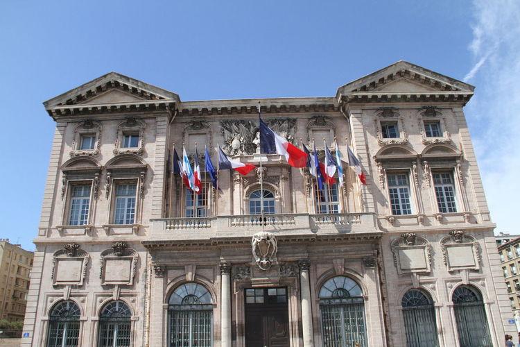 Marseille City Hall City Hall France French Flag Marseille
