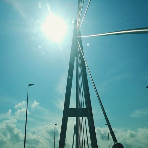 No People Industry Day Sky Built Structure Bridge Sun Blue Sky Malaysia Johor