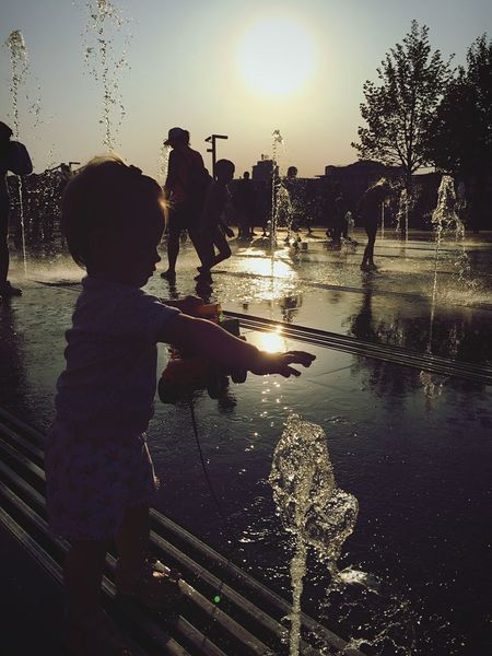 Outdoors Water Real People Sunset Childhood Togetherness Lifestyles Leisure Activity Photographing The Week On EyeEm Summer ☀ Joyful Activity