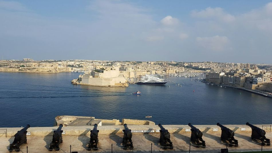 Malta Europe Valletta Historical Place Canon Harbour Grand Harbour Ship Marina TakeoverContrast Old Buildings Mobilephotography Samsungphotography Samsung Galaxy S6 Nofilter Accross