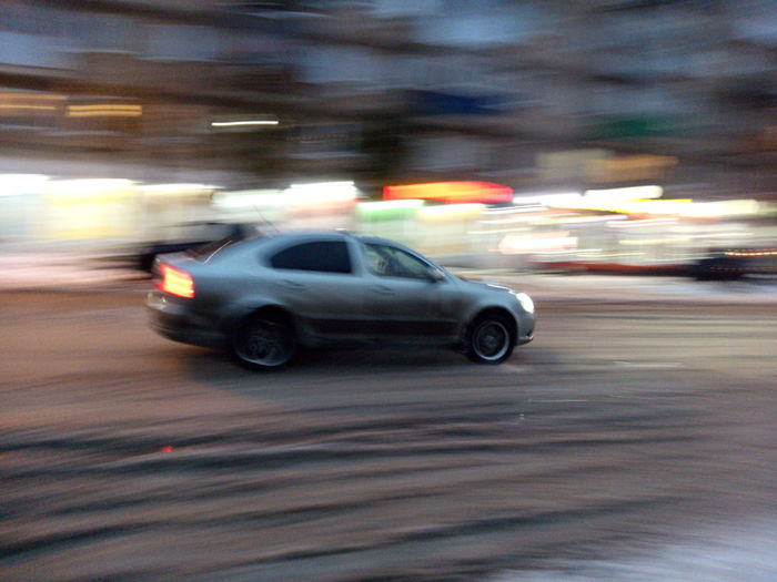Speed Blurred Motion Car Motion City Street Driving Night City Transportation Street Outdoors Nightlife Yellow Taxi No People Sports Race