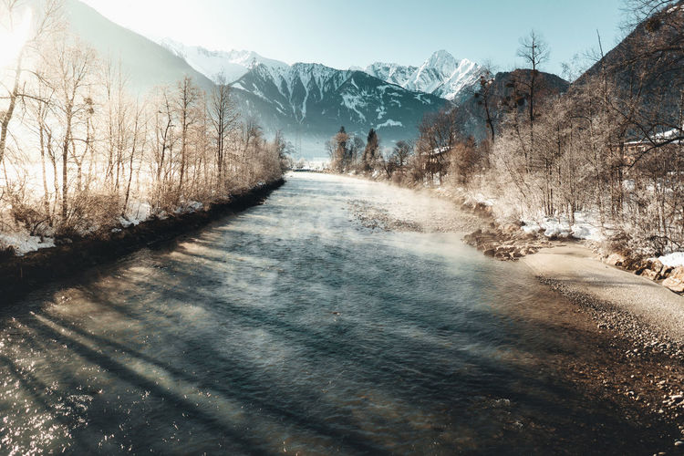Cold Temperature Snow Mountain Tree Winter Plant Scenics - Nature Nature Beauty In Nature Tranquil Scene Tranquility Day Environment Landscape Mountain Range Direction Land No People Sky Outdoors Snowcapped Mountain