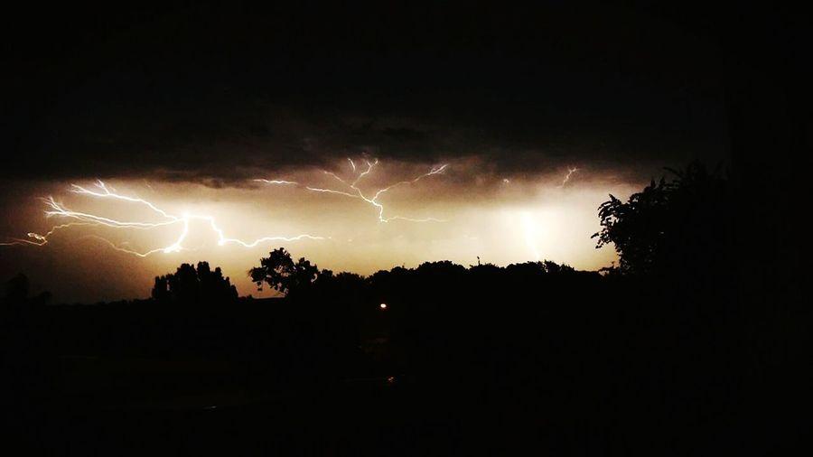 -sky Lightning Lightning Bolt Sunset Thunder Thunderstorm Smallhairymonkey