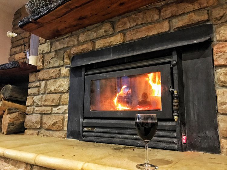 Wine Not Flame Burning Heat - Temperature Fireplace No People Indoors  Architecture Day Tasmania
