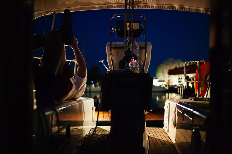 Bavaria Boat Boatlife Front View Harbour Illuminated Lakeshore Mood Night Lights Night View Nightphotography People And Places Port Sailboat Sailing Spotlight TeamCanon Technology The Color Of Sport The Color Of Technology