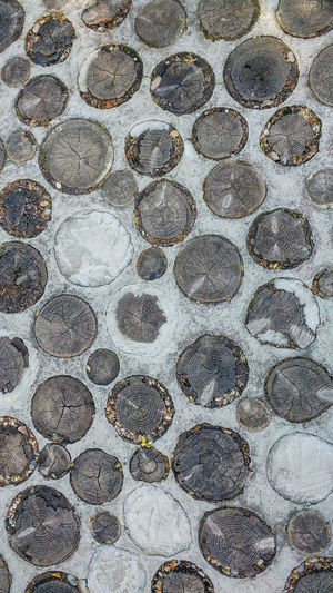 Geometric Shape Circle Pattern No People Shape Flooring Design Footpath Textured  Tile Street Cobblestone Tiled Floor