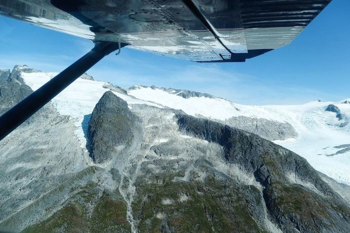 Flying over the Nunatak Mountains Alaska Alaskan Nature Aviation Plane Beauty In Nature Nature Cold Temperature Snow Winter Scenics - Nature Sky Day Mountain No People Cloud - Sky Outdoors Landscape Mountain Range Air Vehicle Non-urban Scene