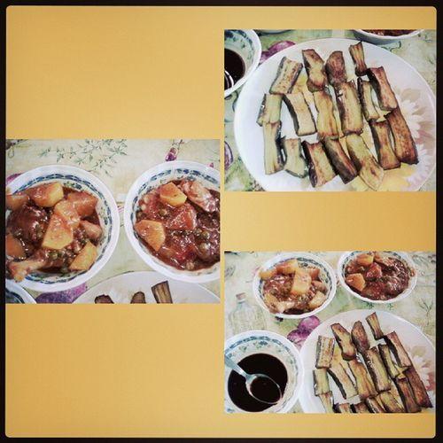 Lunch_all PritongTalong Chickencaldereta ??