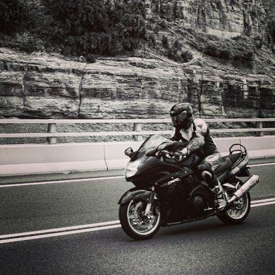 Sony Nex Nex5n Skopar 21mm sydney australia bw bnw bnw_society seacliffbridge motorbike bike