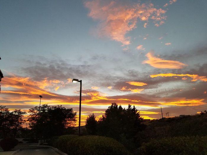 No Filter, No Edit, Just Photography Cloud - Sky Dramatic Sky Outdoors Sunset Street Light Orange Color