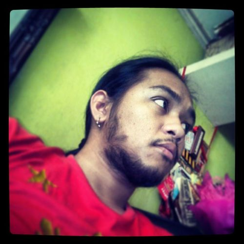 Firstpicforthismorning RedShirt  Beard Pinoy hitlike likesforlikes followforfollow followbackteam followme ifollowback iamkhelvin