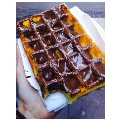Food Gauffre Chocolate Nutella