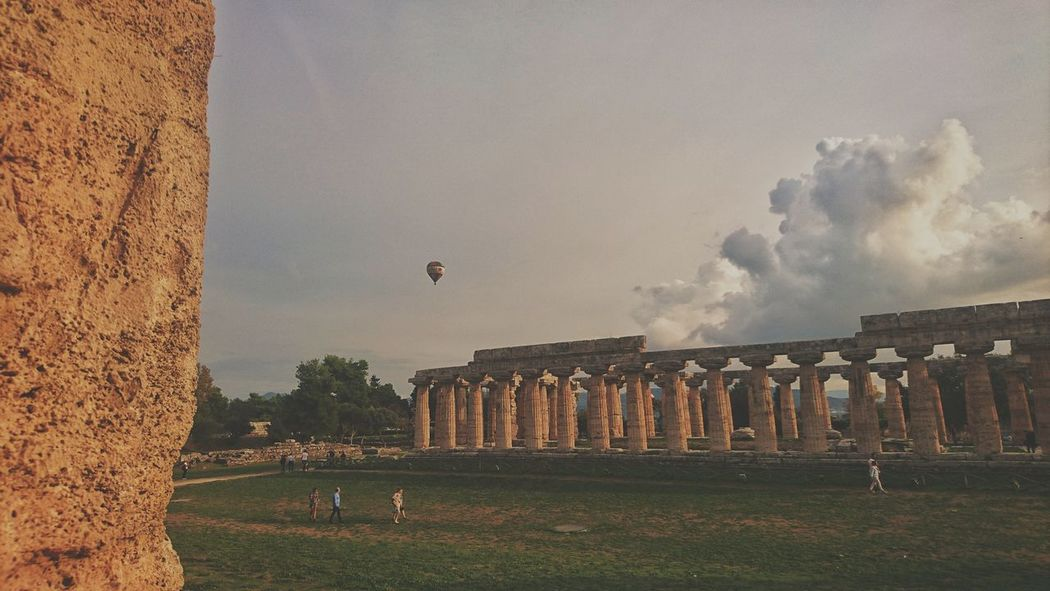 Ruins. EyeEm Best Shots Beauty In Nature Quiet Moments Culture EyeEm Gallery EyeEm Selects Ruins Temple Balloon Old Ruin Sky Architecture Built Structure Grass Archaeology History The Past Historic Ancient Historic Building