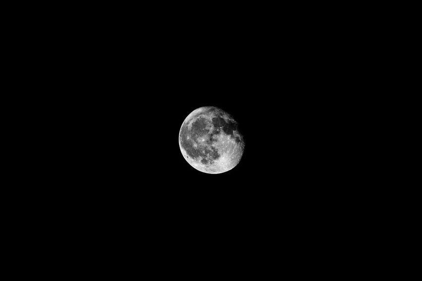 Circle Geometric Shape Moon Copy Space Sky Shape Night