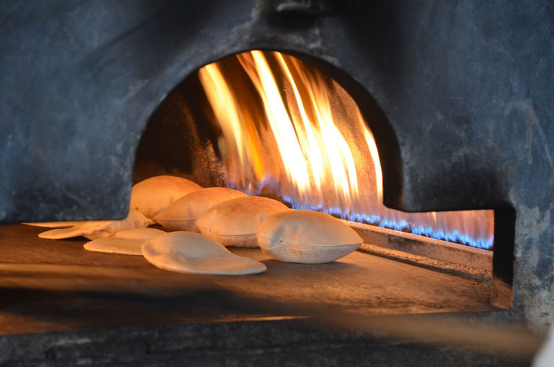 Bakery Bread Burning Food Food And Drink Heat - Temperature Indoors  No People огонь печь сирия хлеб