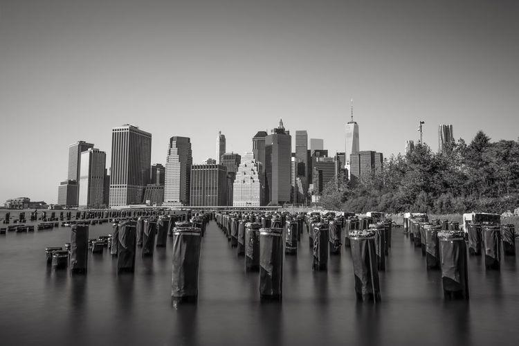 Bridge Longexposure B&w Blackandwhite Manhattan Skyline Slow Shutter Landscape_Collection Cityscapes Brooklyn Longexposurephotography NYC NYC Photography City Manhattan