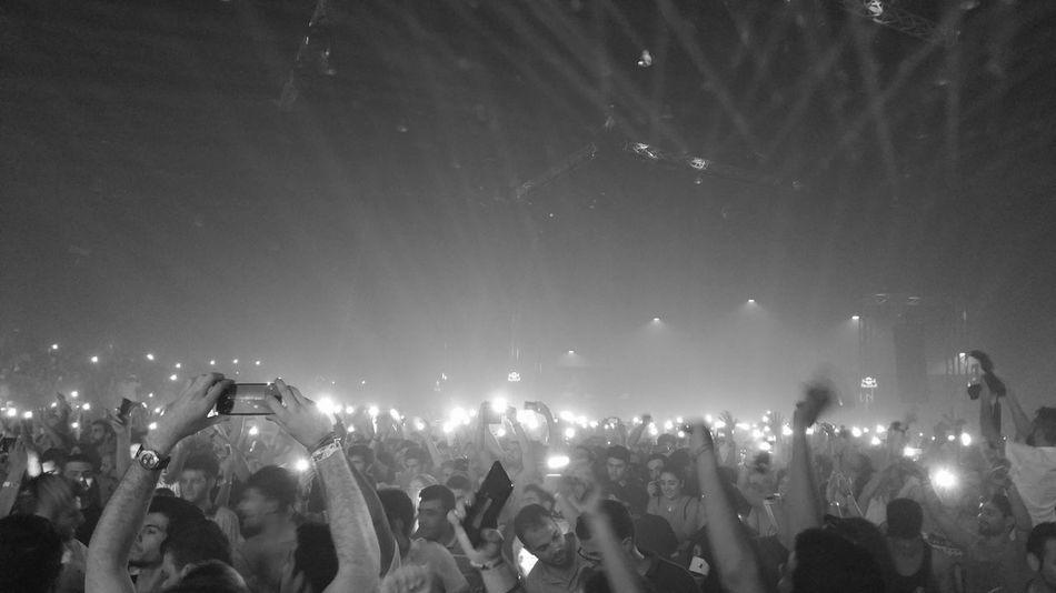 Arminvanbuuren Perfect Moment Rave Crowd Enjoying Life Crazy Moments Summer2015 Beirut Black And White