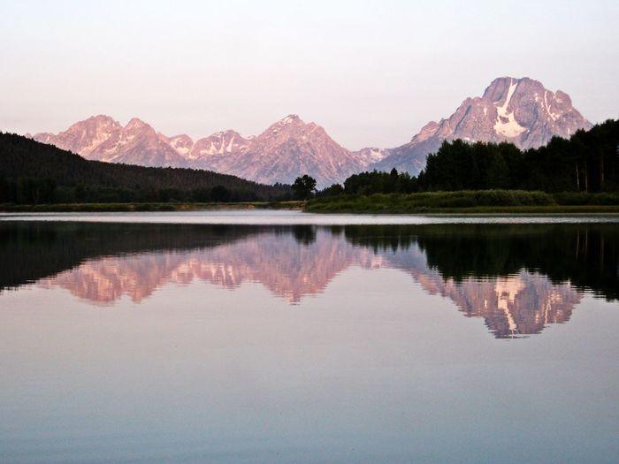 Reflection Of Mountain Range In Lake