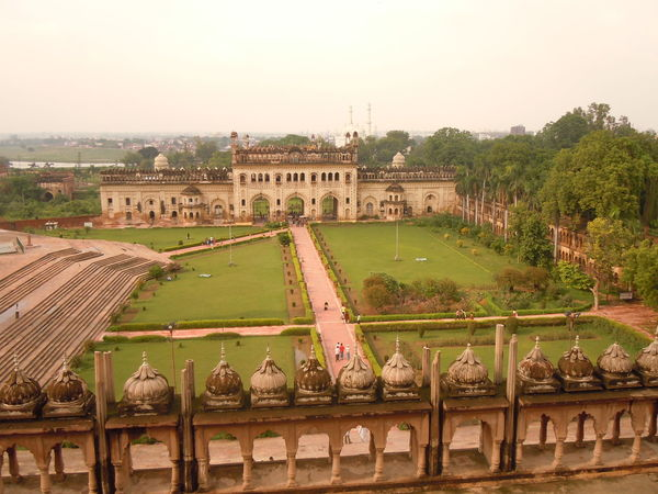 01189 Bara Imambara-Lucknow-India Architecture City Cityscape Day Grass History Horizontal Outdoors People Sky Social Issues Sport Tree