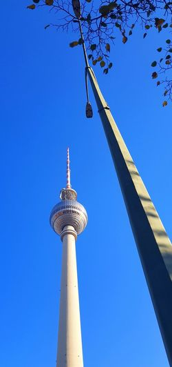 Fernsehturm Berlin Outdoors Berlin Fernsehturm City Blue Cultures Clear Sky Tower Tall - High Sky Architecture Travel Cityscape Urban Scene Skyline Communications Tower