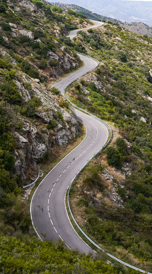Winding road in a mountain