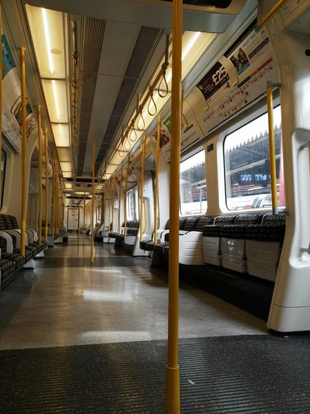 EyeEm Selects Indoors  Transportation Vehicle Seat Day No People City Life Europe City London Undergound Train Public Public Transportation