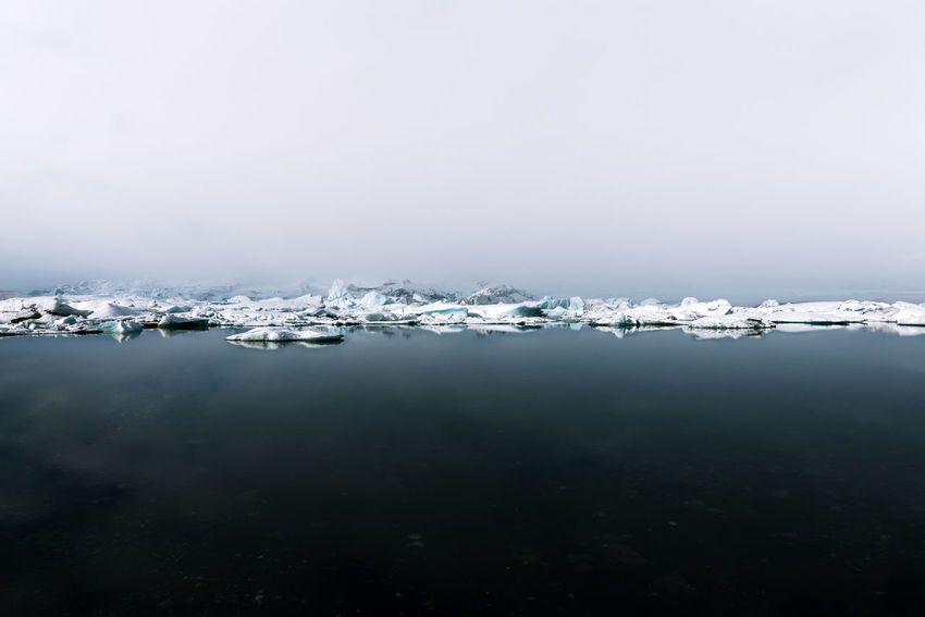 The Great Outdoors - 2018 EyeEm Awards Beauty In Nature Cold Temperature Copy Space Day Environment Floating On Water Frozen Ice Nature No People Outdoors Scenics - Nature Sea Sky Snow Tranquil Scene Tranquility Water Winter