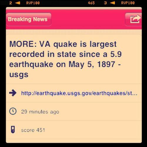 Update Vaearthquake
