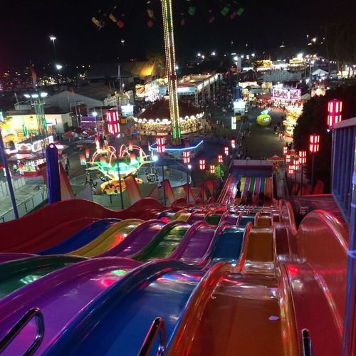 Summer fun time at the fair! County Fair Slide Euro Slide