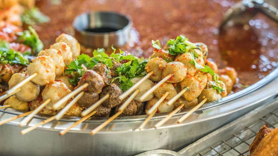 Steam Close-up Day Food Food And Drink Freshness Indoors  No People Ready-to-eat Satay Seafood