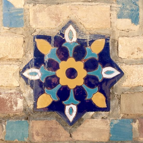 Art Art And Craft Close-up Creativity Culture Historical Building Historical Monuments Mosaic Tiles Mosaics No People Old Ornate Pattern Pattern Pieces Samarkand Textured  The Registan Uzbekistan Wall Wall - Building Feature IPS2016Texture