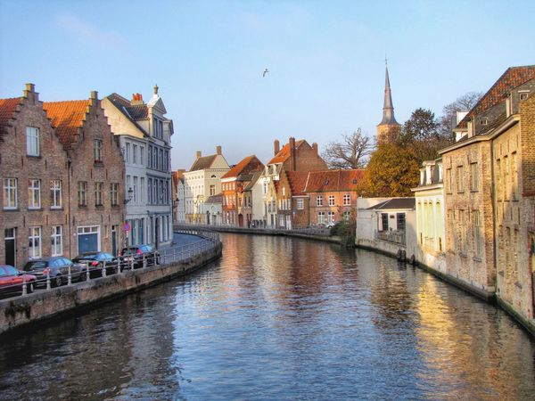 Bruges reflections Brugge Bruges Belgium Canal Reflection Beautiful MOVIE Beauty Beautiful ♥ Sunny Evening Landscape Lighting Architecture Water City Old Town