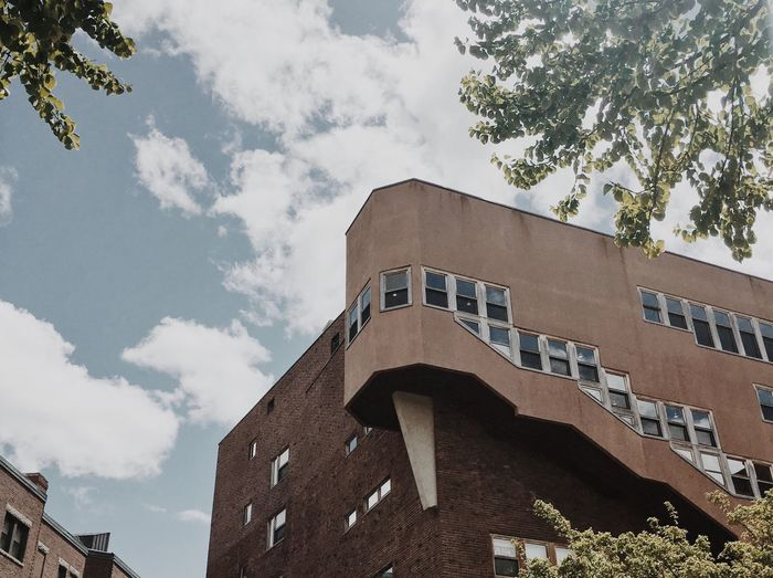 Alvar Aalto Architecture Baker House MIT Campus Building Exterior Sky Low Angle View Contrast