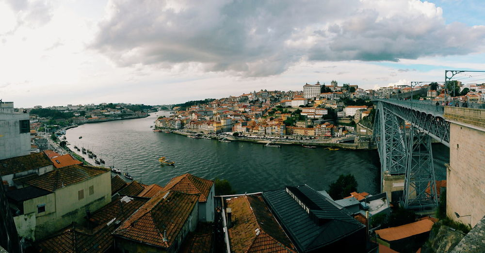 Panorama Panoramic Porto Portugal Travel Architecture Bridge Bridge - Man Made Structure Building City Cityscape Cloud - Sky Day High Angle View Panoramic Photography River Sky Tourism Travel Destinations Water
