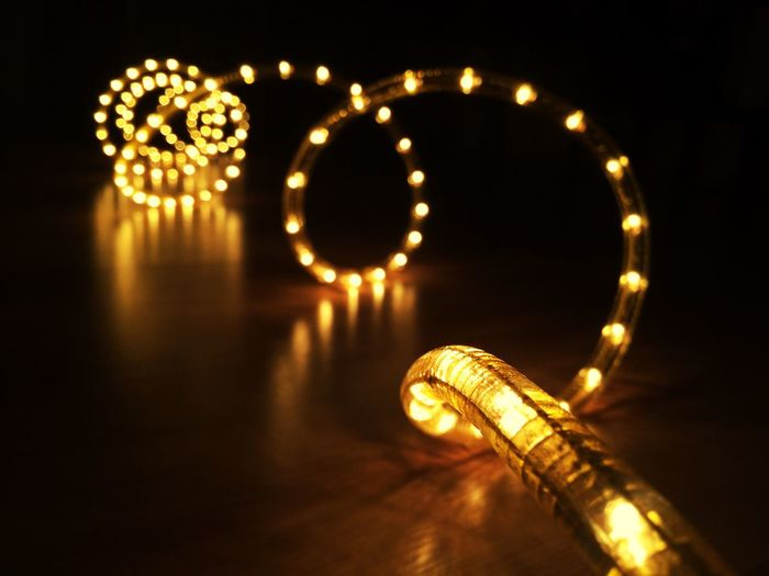 Illuminated Lighting Equipment Night Glowing No People Decoration Light - Natural Phenomenon Indoors  Low Angle View Electricity  Gold Colored Celebration Reflection Light Arts Culture And Entertainment